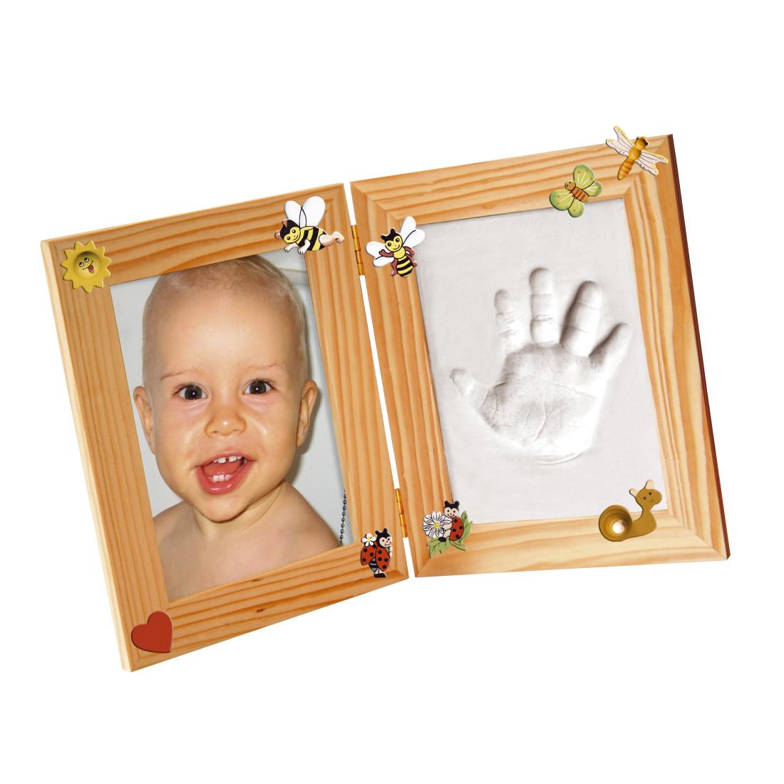 bilderrahmen set klein 3d erinnerungen mammut baby gibsabdruck handabdruck ebay. Black Bedroom Furniture Sets. Home Design Ideas
