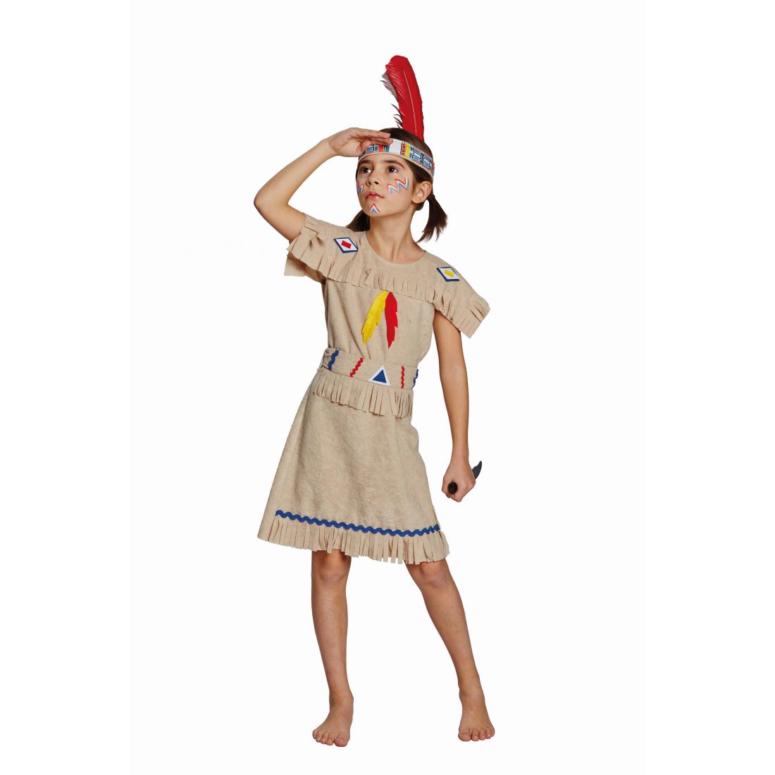 kinder indianerin kost m indianerkleid pocahontas kleid. Black Bedroom Furniture Sets. Home Design Ideas
