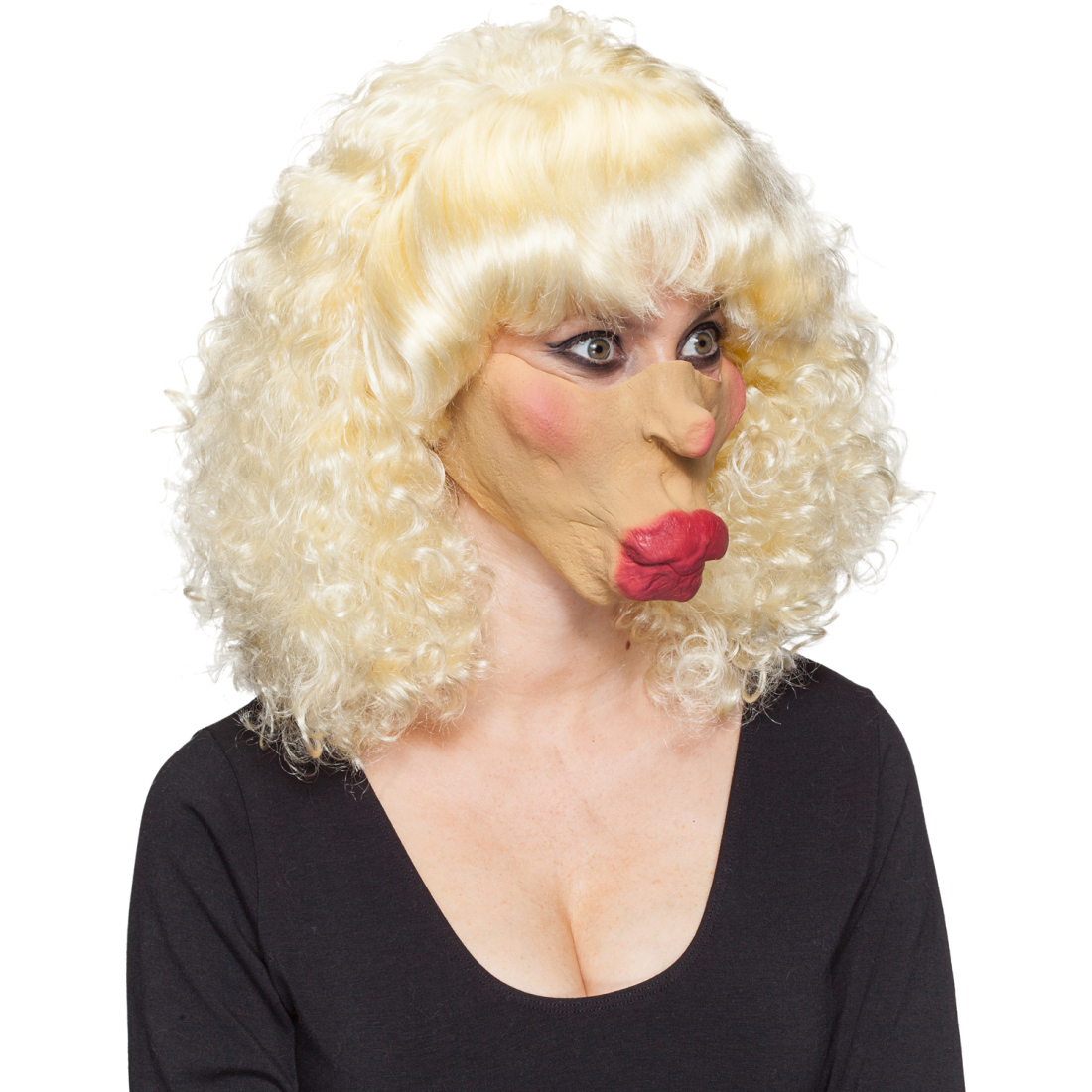 Kussmund Maske Lippen Faschingsmaske Kuss Latexmaske