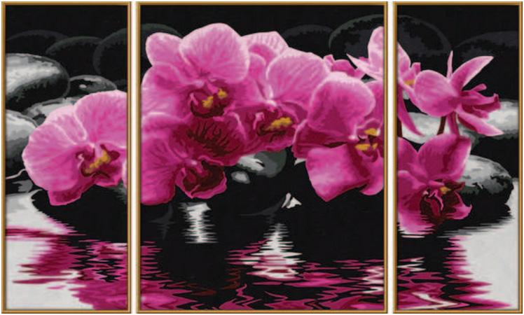 orchideen malen nach zahlen schipper triptychon malvorlagen vorlagen mnz ebay. Black Bedroom Furniture Sets. Home Design Ideas
