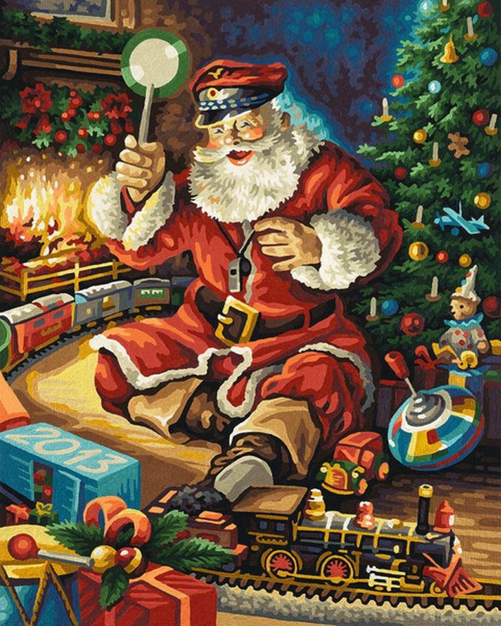 weihnachtsbild 2013  malen nach zahlen schipper 40 x 50