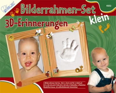 bilderrahmen set klein 3d erinnerungen mammut baby gibsabdruck handabdruck ebay. Black Bedroom Furniture Sets. Home Design Ideas