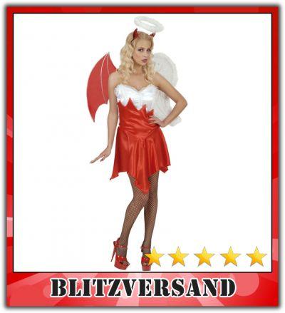 sexy kost m engel teufel teuflischer engel teufelin karneval gr fasching l 42 44. Black Bedroom Furniture Sets. Home Design Ideas