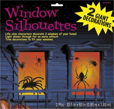 Spinnen fensterbilder halloween fensterdeko fensterbild - Halloween fensterdeko ...