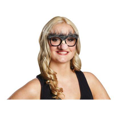 opa brille mit nase nasenbrille mit augenbrauen lustige opabrille alter mann ebay. Black Bedroom Furniture Sets. Home Design Ideas