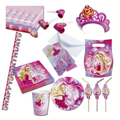 barbie deko set kindergeburtstag partydeko prinzessin partyzubeh r m dchen party ebay. Black Bedroom Furniture Sets. Home Design Ideas