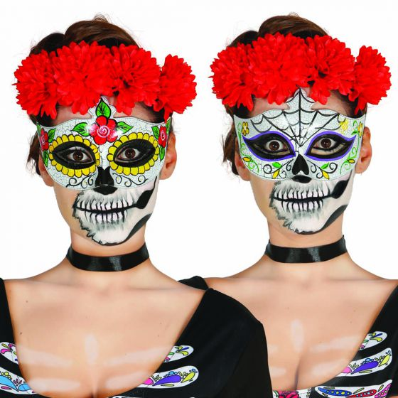 halloween augenmaske sugar skull mexikanische totenmaske. Black Bedroom Furniture Sets. Home Design Ideas