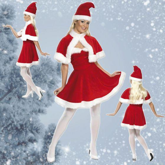 weihnachtsfrau kost m weihnachtskost m frau miss santa. Black Bedroom Furniture Sets. Home Design Ideas