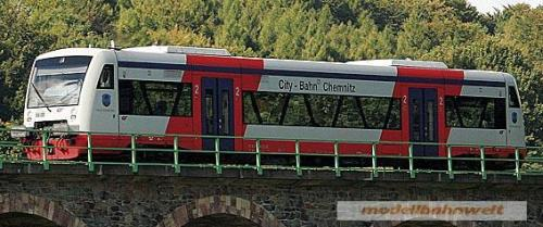 Bemo 1630977 City Bahn Chemnitz Vt 511 Regioshuttle Rs1 Epoche V