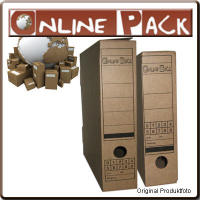 50-St-Archiv-box-Karton-mit-Verschlussklappe-A4-Braun
