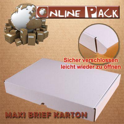 100 Stück 350x250x50 mm Maxibrief Karton E-Welle