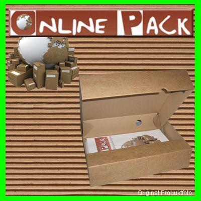 50 St. Archiv box Karton mit Verschlußklappe A4 Braun