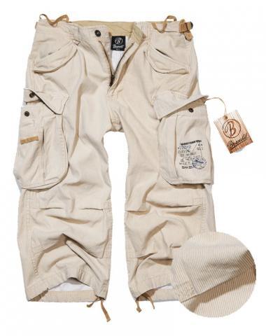brandit industry vintage shorts herren 3 4 hose nadelstreifen beige pine ebay. Black Bedroom Furniture Sets. Home Design Ideas