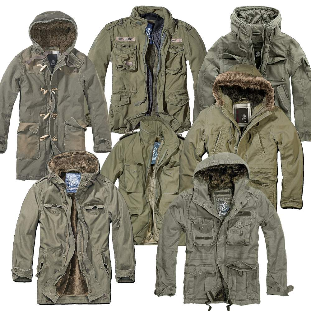 brandit herren winterjacken im military style m65 army parka ebay. Black Bedroom Furniture Sets. Home Design Ideas