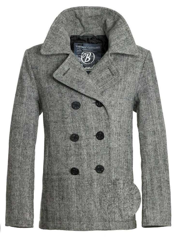 brandit pea coat herren marine kurzmantel woll mantel caban jacke ebay. Black Bedroom Furniture Sets. Home Design Ideas