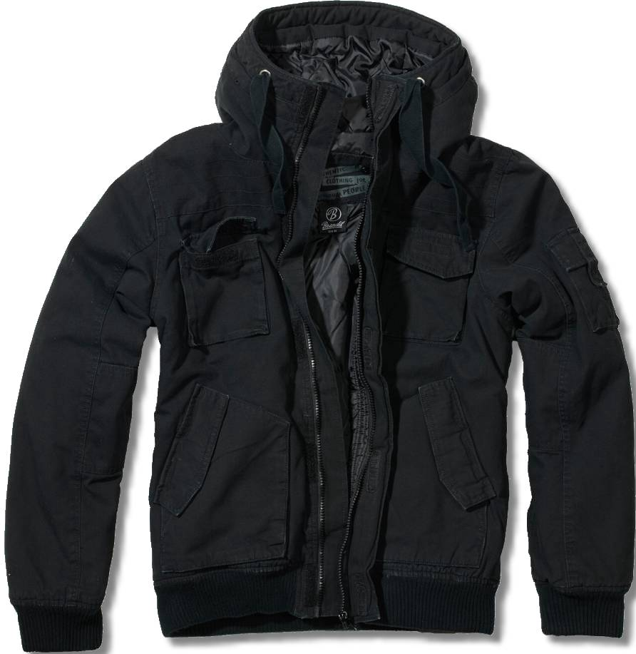 brandit bronx vintage jacke herren winterjacke blouson schwarz ebay. Black Bedroom Furniture Sets. Home Design Ideas