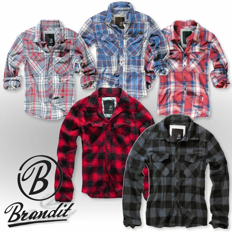 brandit check shirt kariertes freizeit hemd f r herren flanellhemd checkered. Black Bedroom Furniture Sets. Home Design Ideas