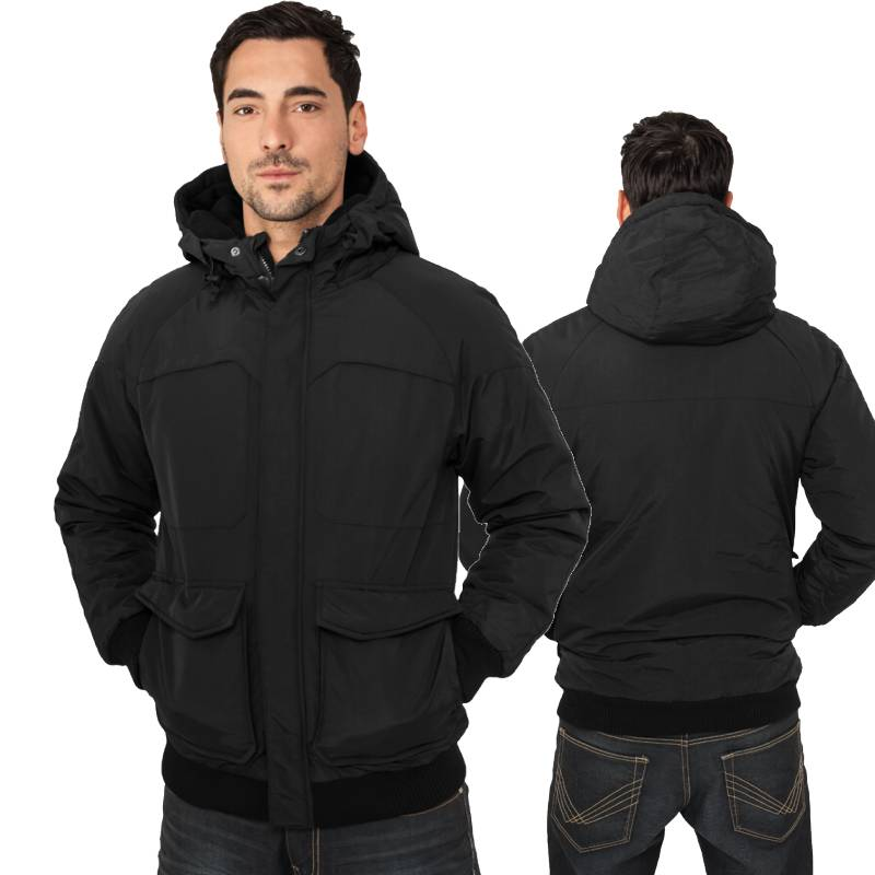urban classics fastlane jacke herren winterjacke nylon mit kapuze schwarz ebay. Black Bedroom Furniture Sets. Home Design Ideas