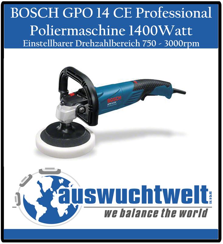 bosch gpo 14 ce professional polierer profi poliermaschine 1400watt 750 3000rpm ebay. Black Bedroom Furniture Sets. Home Design Ideas