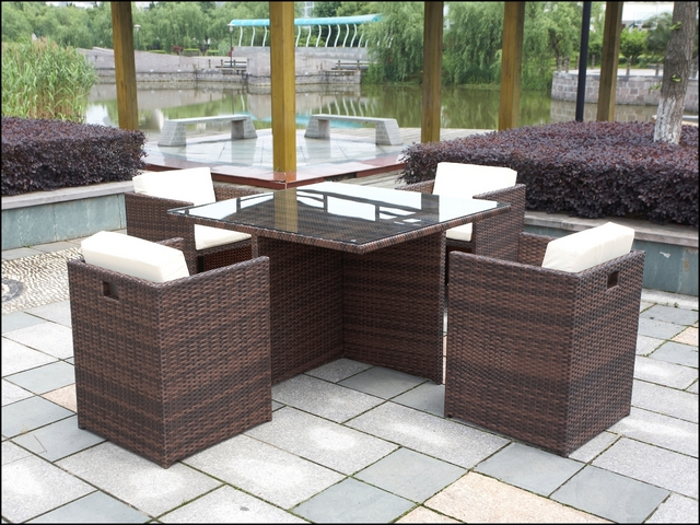 polyrattan gartenm bel poly rattan gartenset essgruppe gartengarnitur sitzgruppe ebay. Black Bedroom Furniture Sets. Home Design Ideas