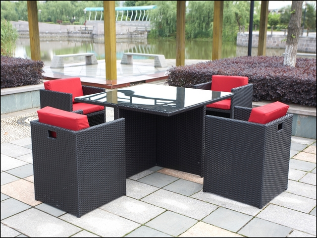 polyrattan gartenm bel poly rattan gartenset essgruppe. Black Bedroom Furniture Sets. Home Design Ideas