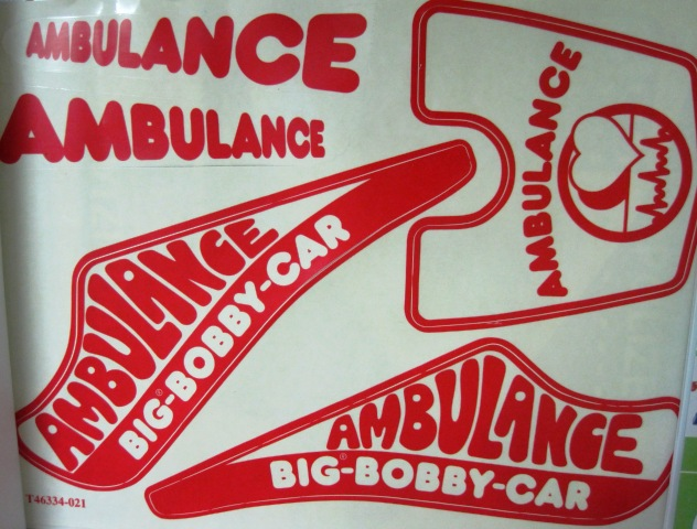 big bobby car stickers aufkleberset ambulance notarzt ebay. Black Bedroom Furniture Sets. Home Design Ideas