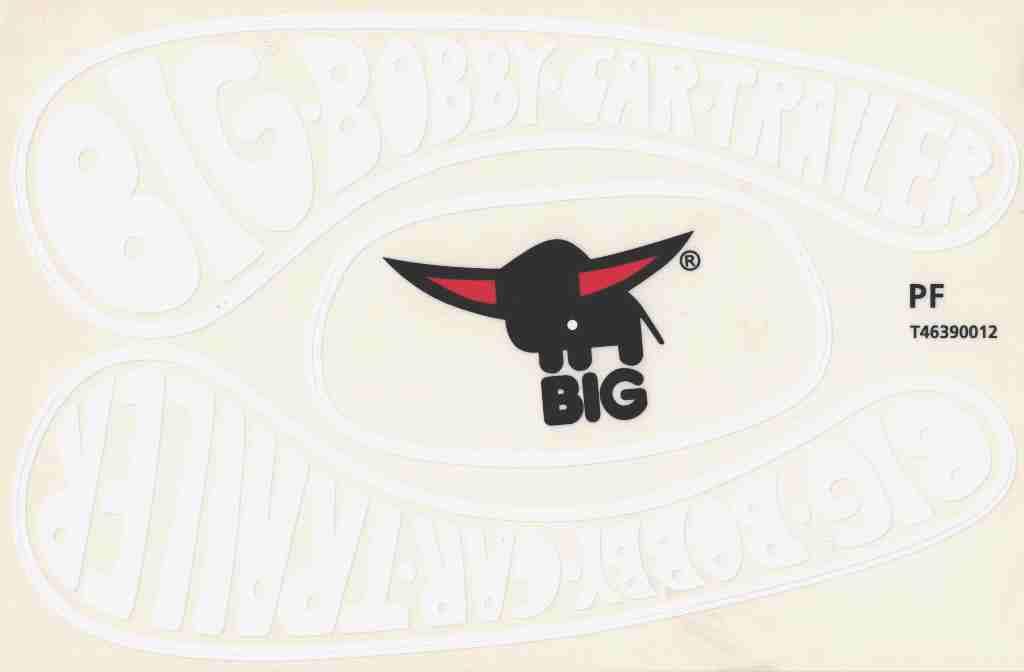 big bobby car stickers aufkleber f r trailer anh nger classic. Black Bedroom Furniture Sets. Home Design Ideas