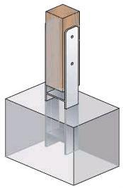 91 mm h anker pfostentr ger 91x600 pfostenanker carport. Black Bedroom Furniture Sets. Home Design Ideas