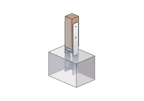 121 mm h anker pfostentr ger 121x600 pfostenanker carport. Black Bedroom Furniture Sets. Home Design Ideas