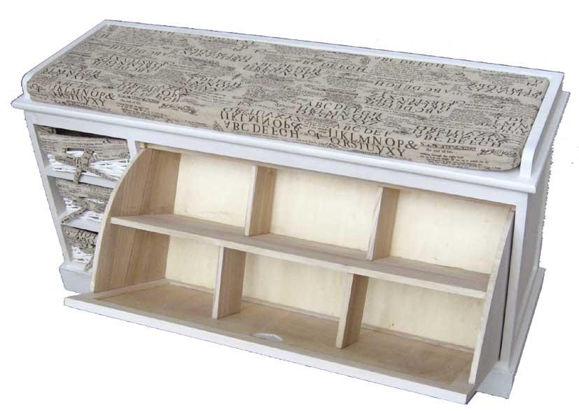 schuhschrank mit 3 k rben und auflage schuhe m bel holz schrank ebay. Black Bedroom Furniture Sets. Home Design Ideas