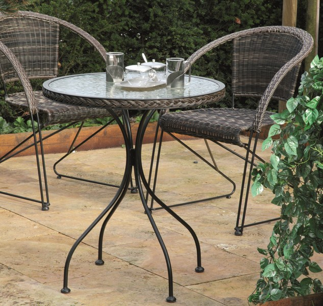 g104862 siena garden gartentisch bistro tisch siesta schwarz bi colormocca 64 ebay. Black Bedroom Furniture Sets. Home Design Ideas