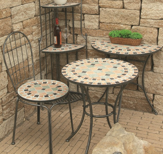g247010 siena garden gartentisch beistelltisch tisch fiore in mosaik optik 64x64 ebay. Black Bedroom Furniture Sets. Home Design Ideas