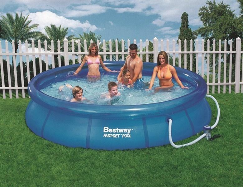 Schön G670213 Bestway Schwimmbecken Planschbecken Garten Pool Fast Set  ZU04