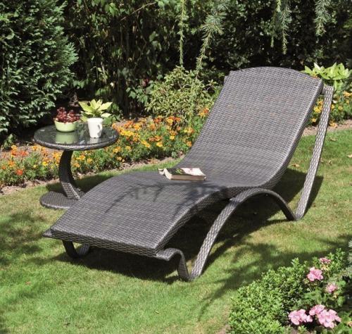 g800304 siena garden liege gartenliege sonnenliege stapelliege aurora titan ebay. Black Bedroom Furniture Sets. Home Design Ideas