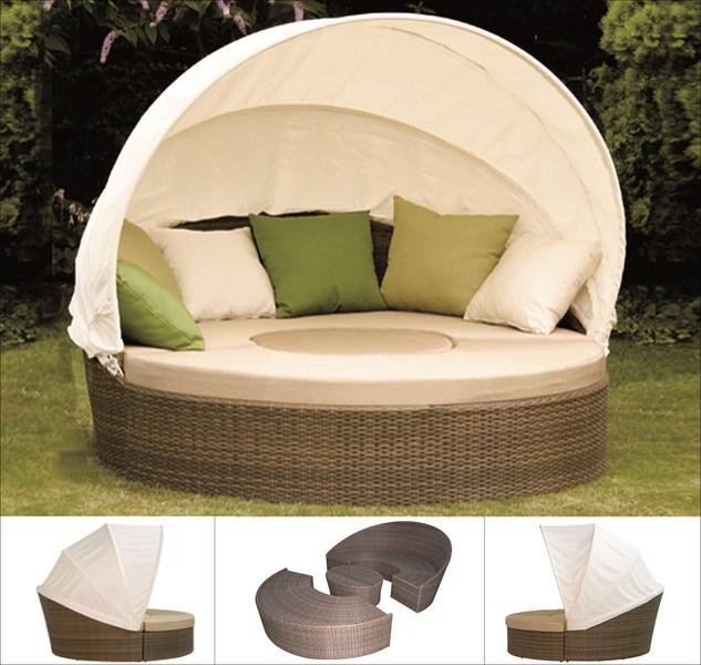 g104786 siena garden sonneninsel liege oase lounge set oase cappuccino beige ebay. Black Bedroom Furniture Sets. Home Design Ideas