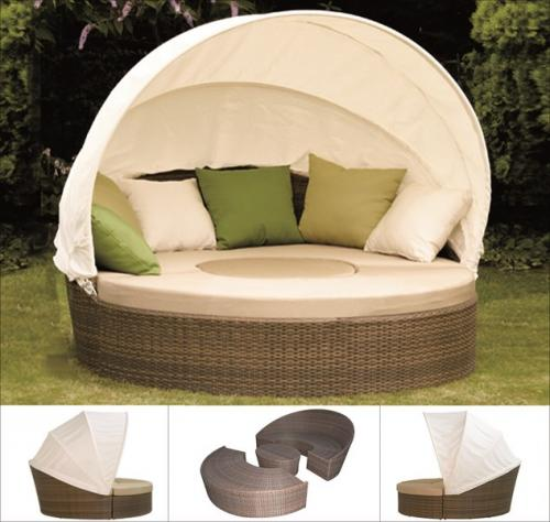 g104786 siena garden gartenm bel liege oase lounge set oase cappuccino beige ebay. Black Bedroom Furniture Sets. Home Design Ideas