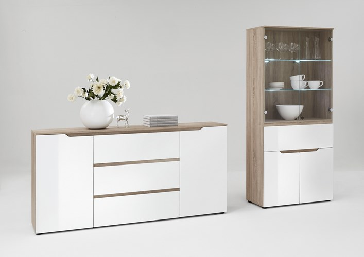 fmd mehrzweckschrank kommode sideboard diva 1 in eiche. Black Bedroom Furniture Sets. Home Design Ideas