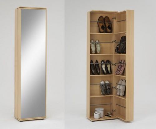 fmd schuhschrank penny 8 mit spiegelkoffert r in buche nb f ca 20 paar schuhe ebay. Black Bedroom Furniture Sets. Home Design Ideas