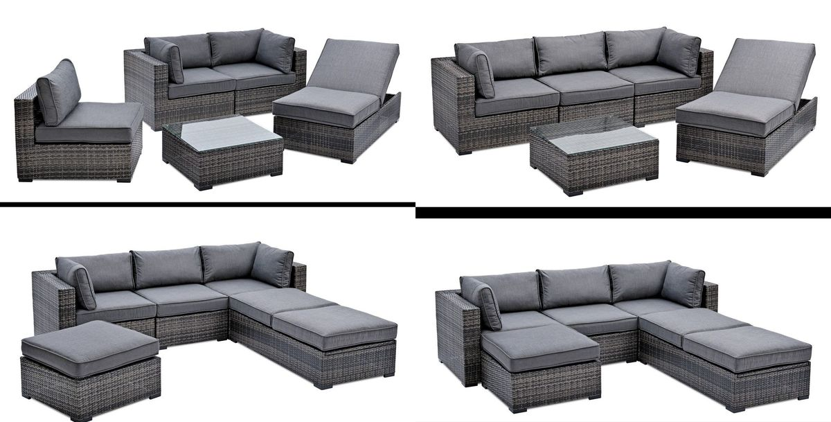 landmann belardo gartenm bel lounge set tineola 5 teilig ebay. Black Bedroom Furniture Sets. Home Design Ideas