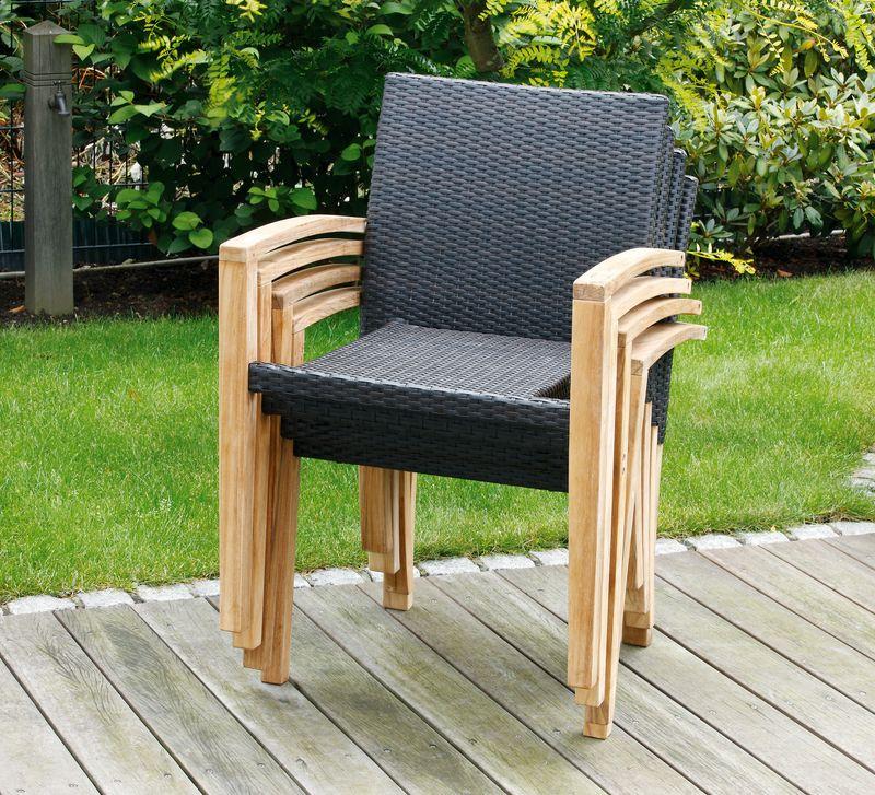 landmann belardo sessel stapelsessel astena 253157 ebay. Black Bedroom Furniture Sets. Home Design Ideas