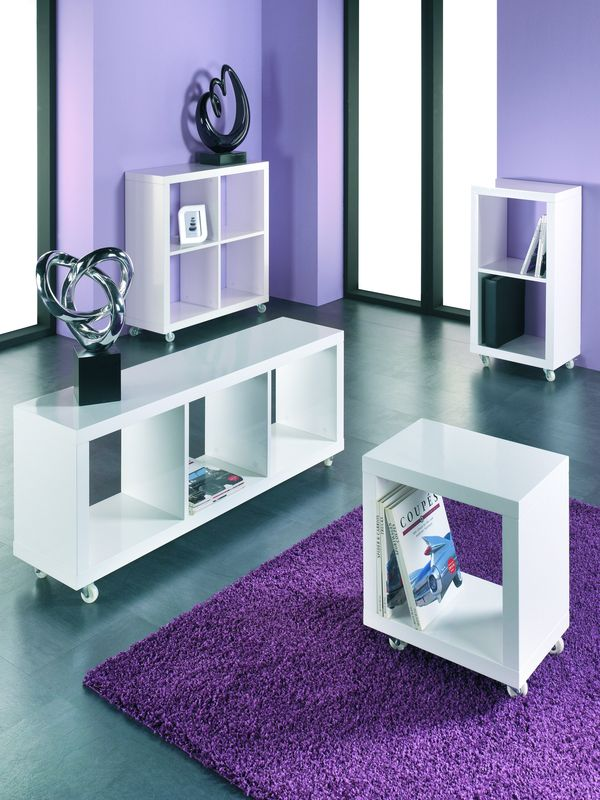 h87384 haku beistellm bel beistelltisch tisch regal cubes seidenglanz wei. Black Bedroom Furniture Sets. Home Design Ideas