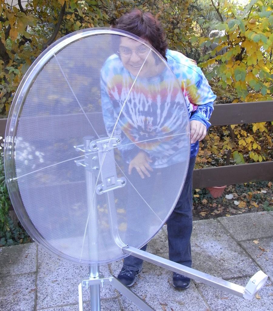transparenter sat spiegel 85 cm ebay