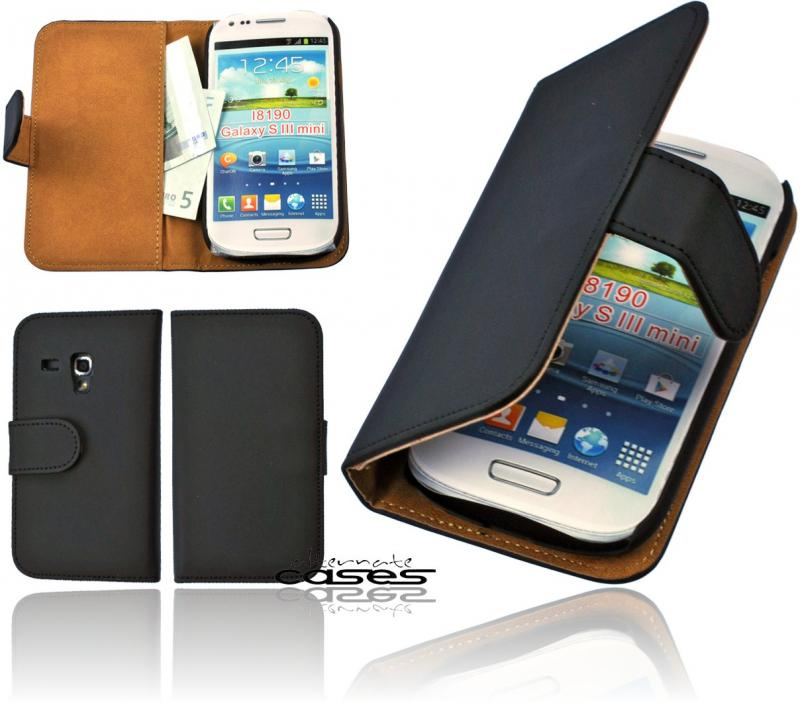 samsung galaxy s3 mini i8190 book style handytasche flip case etui schutzh lle ebay. Black Bedroom Furniture Sets. Home Design Ideas