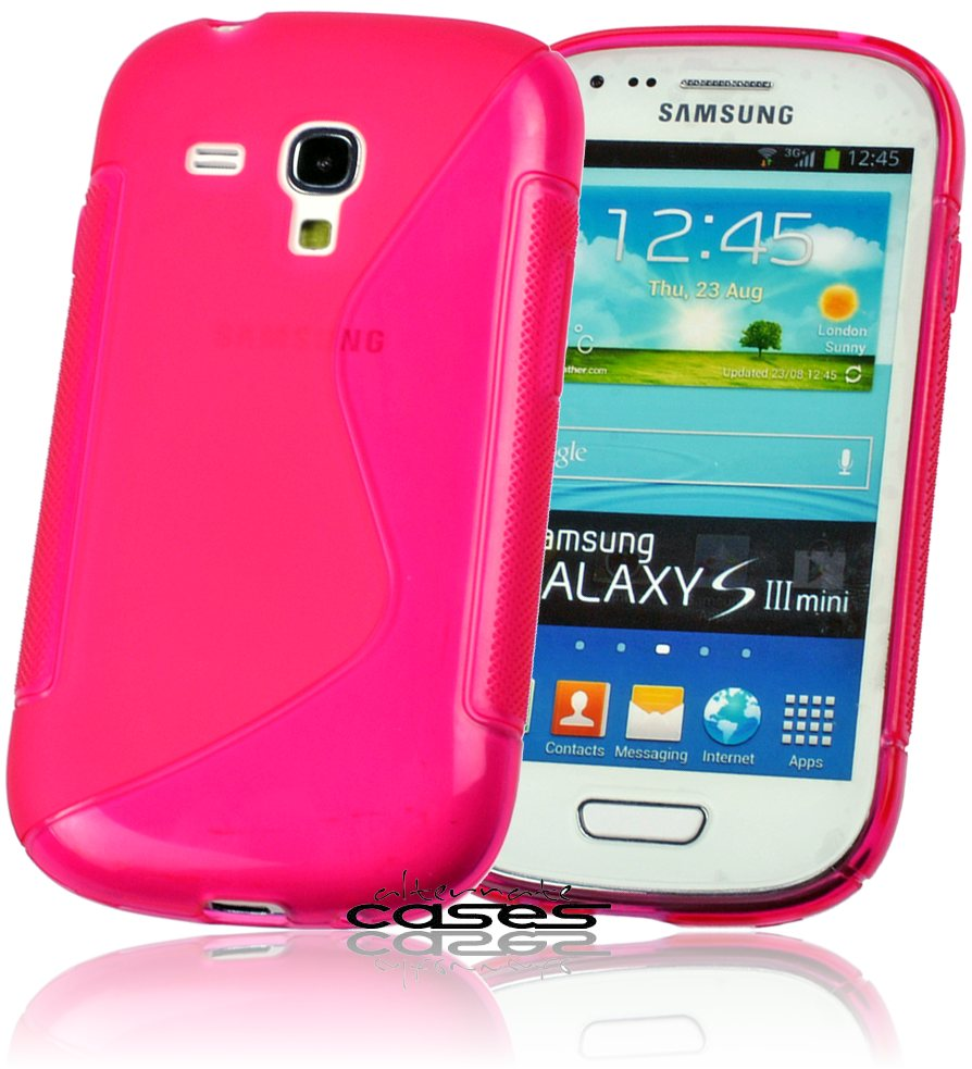 samsung galaxy s3 mini i8190 silikon h lle pink. Black Bedroom Furniture Sets. Home Design Ideas