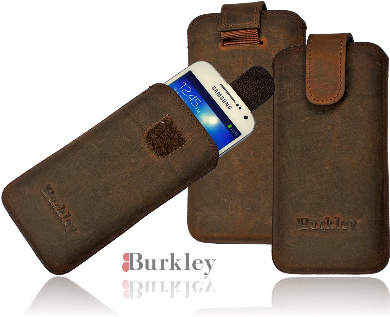 burkley premium lederh lle samsung galaxy s4 mini i9190. Black Bedroom Furniture Sets. Home Design Ideas