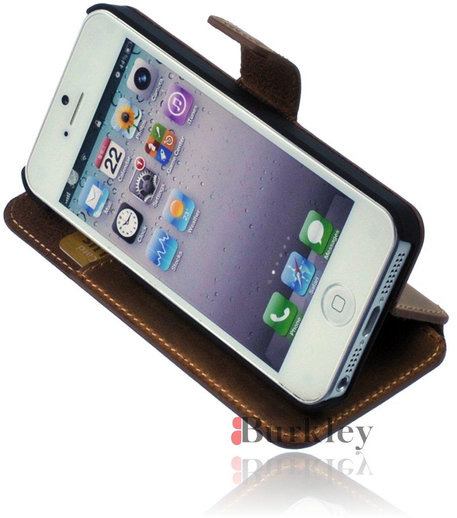 apple iphone 5 5s premium leder book case flip tasche. Black Bedroom Furniture Sets. Home Design Ideas