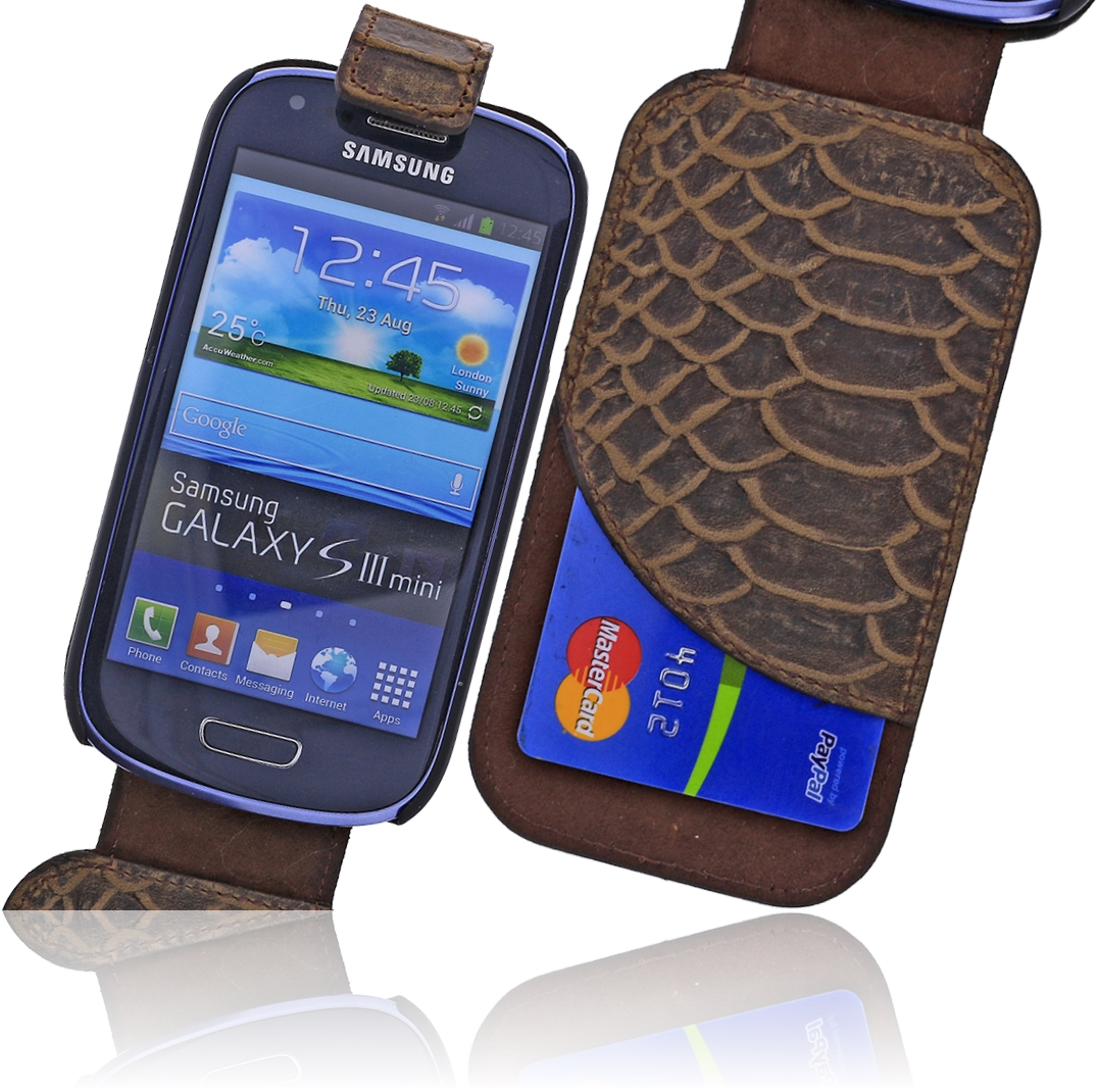 burkley croco leder flip case tasche samsung galaxy s3. Black Bedroom Furniture Sets. Home Design Ideas