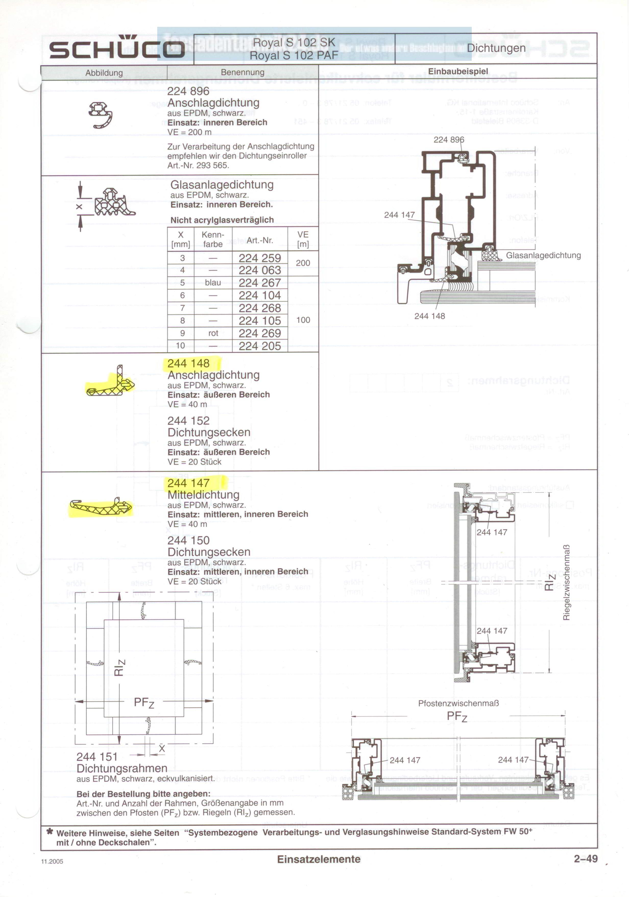 sch co epdm mitteldichtung preis pro meter nummer 244148. Black Bedroom Furniture Sets. Home Design Ideas