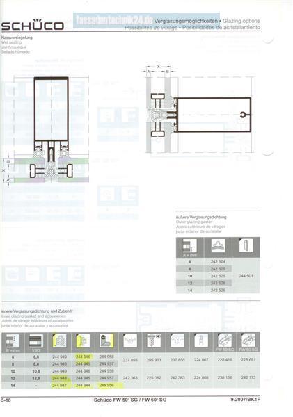 preis pro meter sch co fw 50 60 sg glasanlagedichtung. Black Bedroom Furniture Sets. Home Design Ideas