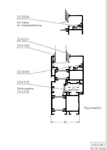 preis pro meter sch co royal 54 54w 64w mitteldichtung nr 204315 ebay. Black Bedroom Furniture Sets. Home Design Ideas